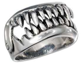 Кільце Щелепи з шарніром, срібло 925 проби