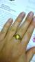 Срібне кільце з жовтим каменем