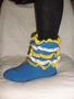 Носочки вязанные с подошвой