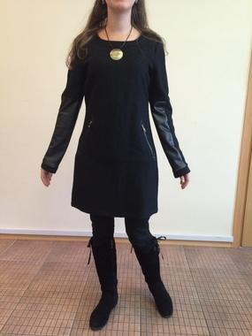 Теплое платье с кожаными вставками, Achielry, Испания