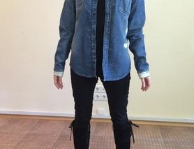 Женская джинсовая рубашка ASOS Denim