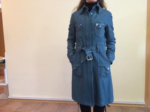 Демисезонное винтажное пальто Moschino Jeans