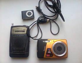 Бв електроніка на запчастини, фотоапарат, радіо і плеєр