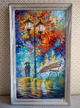 "Картина ""Осень"" (холст, масло) 38*69 см К"