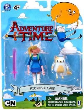 Вінілові фігурки Jazwares Adventure Time Fiona & Cake Фіона та Пиріжок, нові