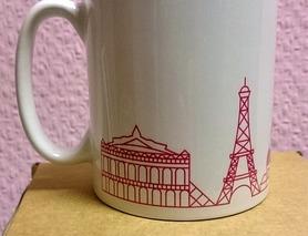 чашка кружка з силуетом Парижу, нова в коробці