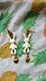 Оригінальні сережки Кролики, емаль