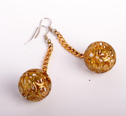 """Сережки """"Золоті кульки"""""""