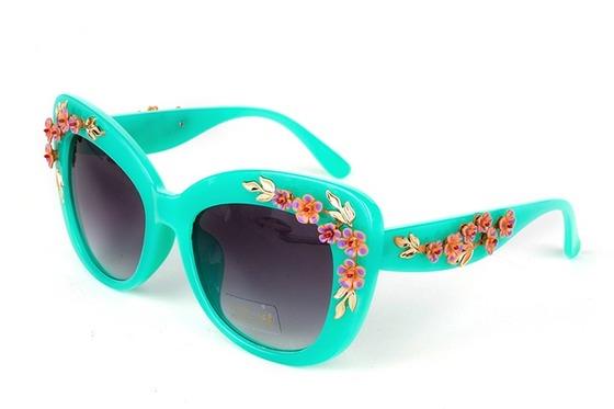 Яскраві сонячні окуляри з квітами Інші аксесуари  28f879a59aad0
