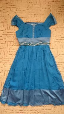 Платье из настоящего шелка Moschino с отделкой бисером
