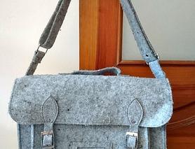 Повстяна сумка Оксфорд, згодиться для невеликого ноутбука