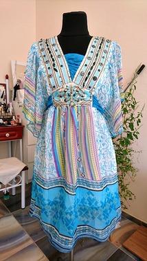 Яскрава пляжна сукня RdS з вишивкою бісером
