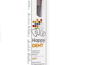 Зубна щітка Happy Dent  зі спіралевидними скрученими щетинами