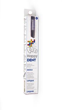 Зубна щітка Happy Dent з структурною щетиною та кольоровими вкрапленнями