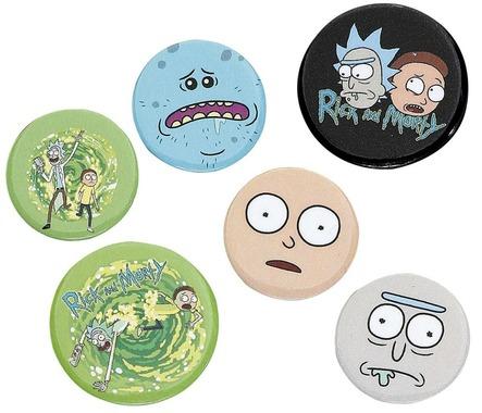 Набір значків Rick and Morty (Рік та Морті), 6 шт.