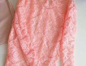 Кружевная розовая кофта