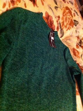 Платье гольф зелёное ангора