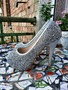 Срібні туфлі Serena Blanco на високих підборах