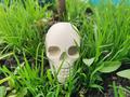 Декоративний череп 3D з цементу - для прикрашання інтер'єру