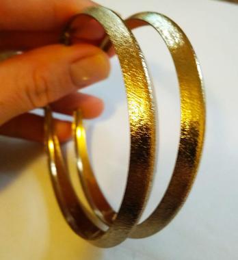 Крупные серьги кольца бижутерия