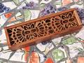 дерев'яний пенал коробка з різбляною кришкою, новий