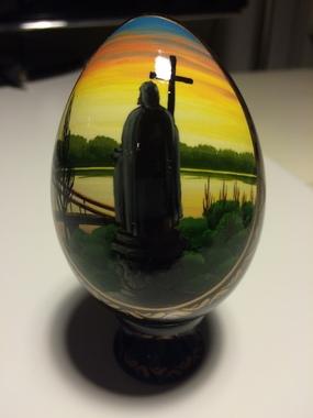 """Декоративне яйце ручної роботи """"Святий Володимир"""""""